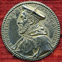 Pastorino, medaglia di francesco pacheco, cardinale e vescovo di burgos (no verso), argento, 1569.JPG