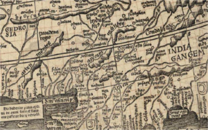 Regio Patalis - Patala on the Waldseemüller map