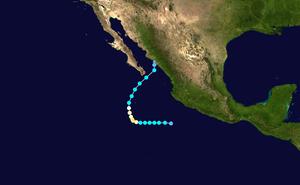 Hurricane Paul (2006) - Image: Paul 2006 track