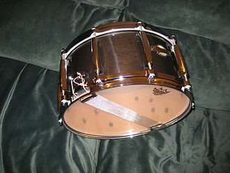 "Pearl Drums - MCX maple snare drum, 6.5"" x 14"" in transparent black."