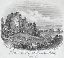 Penrice castle, & Oxwich point, Gower