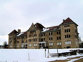 Peoria State Hospital - The Bowen Building - Nurses Dorm and Administration building at the former Peoria State Hospital