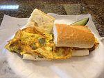 Pepper and egg sandwich