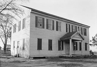 Claiborne, Alabama - Image: Perdue Hill Masonic Hall 01