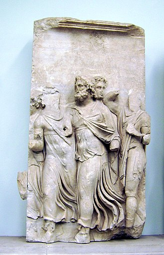 Teuthras - Teuthras finds Auge on the Beach; from the Telephos frieze of the Pergamon Altar at the Antikensammlung/Pergamonmuseum in Berlin