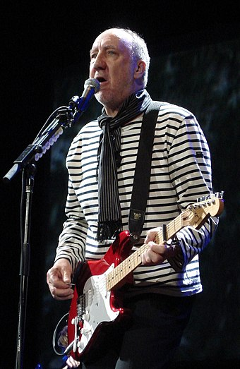 "English musician Pete Townshend has been referred to as the ""Godfather of Punk"". Pete Townshend - Phyllis Keating.jpg"
