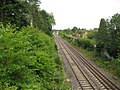 Pewsey, Main railway line to London, 75½ miles ahead - geograph.org.uk - 1400229.jpg