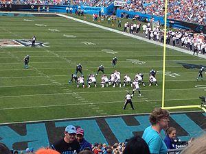 2012 Denver Broncos season - The Broncos on offense against the Carolina Panthers in week 10
