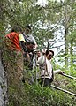 Philippine President Gloria Macapagal Arroyo during her visit to the caves in Sagada, Mountain Province.jpg