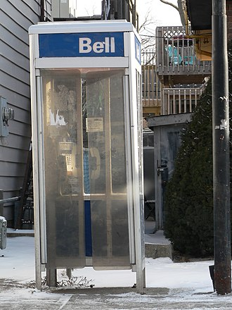 Nortel payphones - Bell Canada phone booth with Millennium phone visible