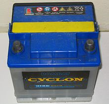 Battery Lead on Typical 12 V 40 Ah Lead Acid Car Battery