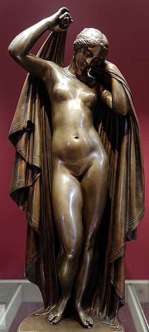 James Pradier - Phryne Removing Her Veils (bronze, 1845)