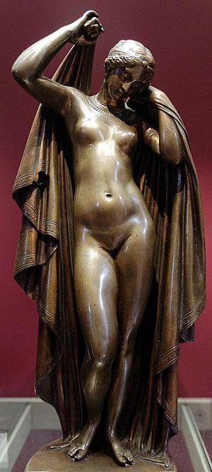 James Pradier - Phryne Removing Her Veils (bronze, 1845)