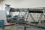 Piasecki HRP-1 Flying Banana, in restoration - Evergreen Aviation & Space Museum - McMinnville, Oregon - DSC00664.jpg