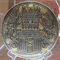 Piatto con decorazione di castello assediato, arg, samirechye, da bolshoe-anikovskaya, IX-X sec su orig del l'VIII sec.JPG