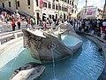 Piazza di Spagna - Fontana della Barcaccia - panoramio.jpg