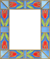 Picture frame leaves stainedglass 05.png