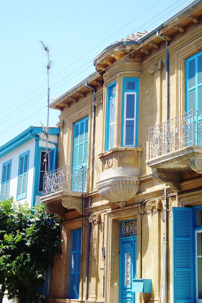 File picturised old traditional houses nicosia republic of for Old traditional houses