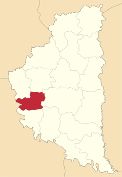 Location of Pidhajcu rajons
