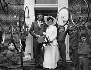 Piet de Wit - Marriage of Piet on 24 December 1969