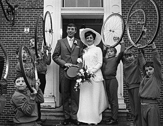 Piet de Wit - Marriage of Piet on 24 December 1969