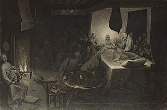 Christ and the Woman Taken in Adultery (Bruegel) - Image: Pieter Bruegel the Elder Death of the Virgin WGA03468