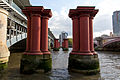 Pillars of old Blackfriars Railway Bridge - 01.jpg