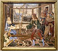 Pinturicchio, penelope e i suoi corteggiatori, 1509 ca., dal palazzo del magnifico a siena, 01.jpg