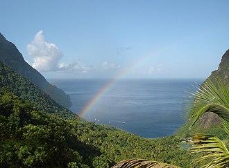 Soufrière, Saint Lucia - Image: Piton Valley