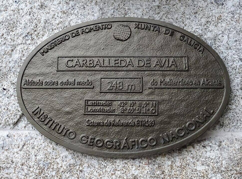 Placa concello, Carballeda de Avia 16