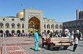 Placing Carpets, Imam Ridha Mosque.jpg