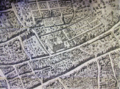 Plan of Brussels by Martin de Tailly, 1640. Detail showing Hoogstraat, Bovendal, Sweertstraat and the Minim convent.png