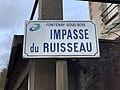 Plaque impasse Ruisseau Fontenay Bois 1.jpg
