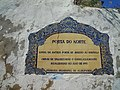 Plaque locating the North Gate of the Castle of Albufeira 25 March 2015.JPG