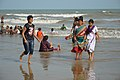 Playful People with Sea Waves - New Digha Beach - East Midnapore 2015-05-01 8773.JPG