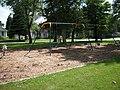 Playground equipment in John Brown Park, Humboldt, Iowa.jpg