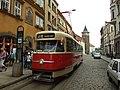 Plzeň, Náměstí Republiky, tramvaj T2.JPG