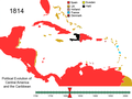 Political Evolution of Central America and the Caribbean 1814.png