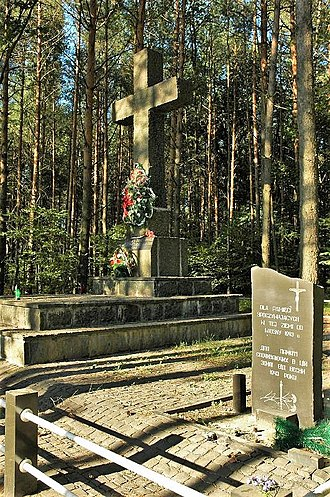 Massacres of Poles in Volhynia and Eastern Galicia - Monument in memory of the Polish victims of Janowa Dolina, Volyn (Wołyń)