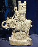 Roman statuette of a Carthaginian war elephant