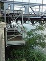 Pont du Robinet sur le Rhône, Donzère, détail de la nacelle d'inspection.JPG