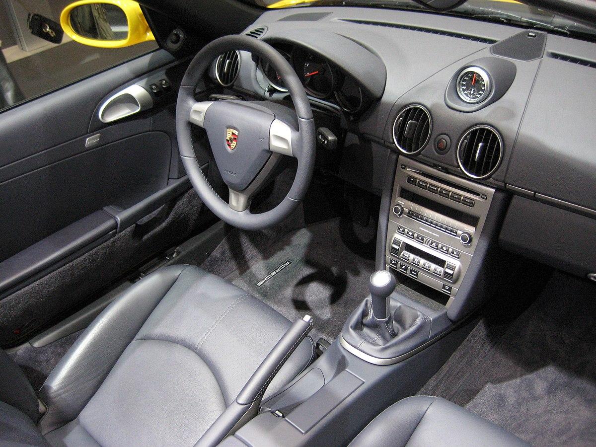 File Porsche 987 Boxster Interior Jpg Wikimedia Commons
