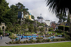 Central piazza at Portmeirion