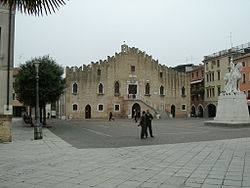 Piazza della Repubblica, the main square, with the Town Hall.