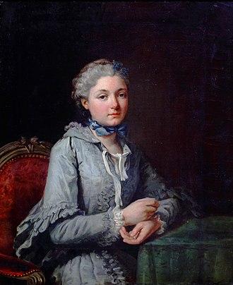 Charles-André van Loo - Image: Portrait d'Innocente Guillemette de Rosnyvinen de Pire