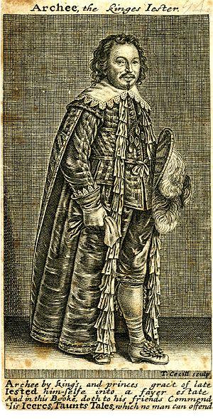 Archibald Armstrong - Archibald Armstrong, engraving by Thomas Cecil