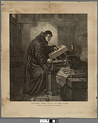 Luther's first study of the Bible