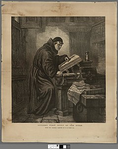 Portrait of Luther's first study of the Bible (4674519).jpg
