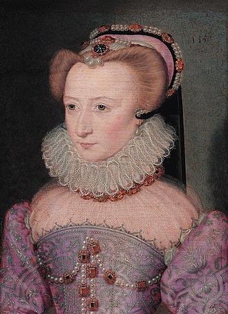 Jean de Court - Image: Portrait of a lady, traditionally identified as Louise de Lorraine (1553 1601), by Jean Decourt