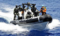 Portuguese Fuzileiros in a boat making a visit, board, search and seizure (VBSS) drill during Phoenix Express 2010 (PE-10).jpg
